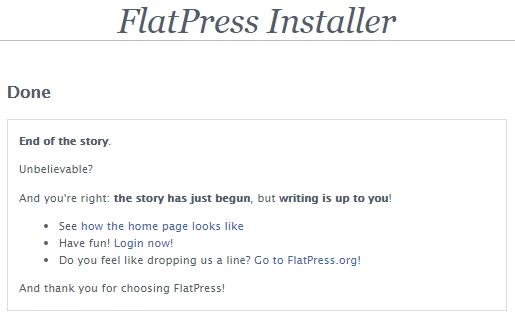 FlatPressの設置完了